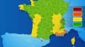 Trois départements du Sud-Est sont désormais en vigilance orange: les Alpes-Maritimes, le Var et les Bouches-du-Rhône.