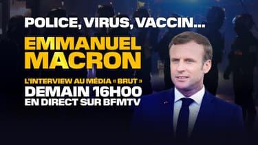 L'interview d'Emmanuel Macron à Brut à suivre sur BFMTV.