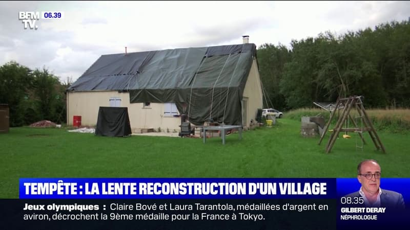 La lente reconstruction de Chézy-sur-Marne un mois après la violente tempête de grêle