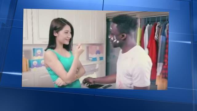 La pub chinoise pour une marque de lessive a suscité une vive polémique dans les médias étrangers