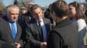 Nicolas Sarkozy a rencontré des élus à Fessenheim, dans le Haut-Rhin, le 12 mars.