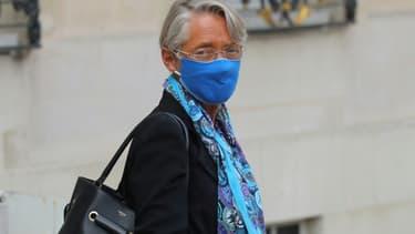 La ministre du Travail Elisabeth Borne quitte l'Elysée après une réunion, le 3 septembre 2020 à Paris