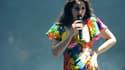 Lana Del Rey en concert au festival de Coachella, en avril 2014.