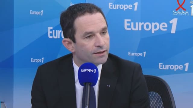 Benoît Hamon, le 24 mars 2017 sur Europe 1