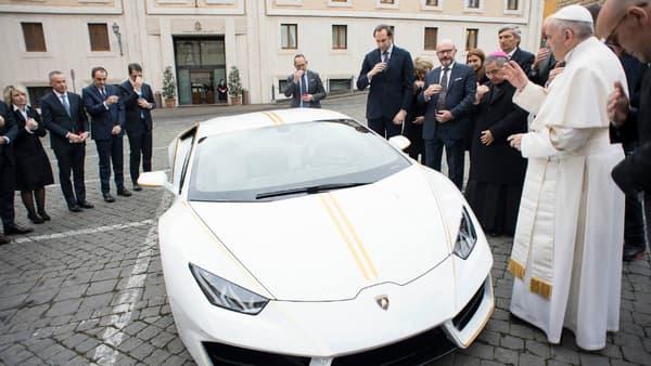 Le pape a béni la superspotive italienne