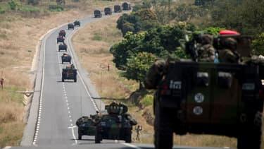 Des soldats français arrivant en Centrafrique depuis le Cameroun, le 7 décembre.