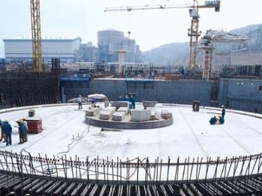 Un réacteur EPR en construction à Taishan en Chine, chantier sur lequel sont associés EDF, Areva et CGNPC.