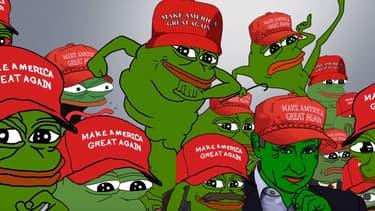 Pepe the Frog, l'un des symboles de l'alt-right américaine.