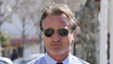 David Ginola lors de l'audience du procès qui l'a opposé à Gérard Houiller l'ancien sélectionneur des Bleus en mars 2012