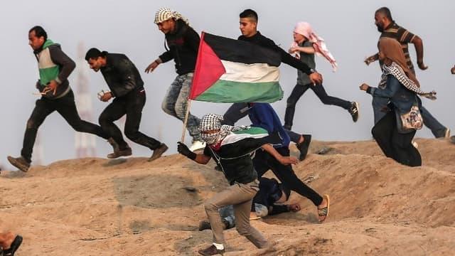 Des affrontements le long de la frontière entre Israël et la bande de Gaza, le 30 novembre 2018.