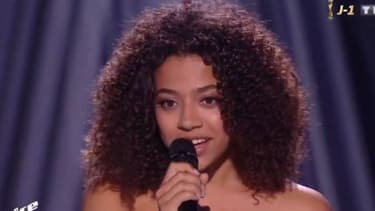 "Whitney Marin sur le plateau de ""The Voice"""