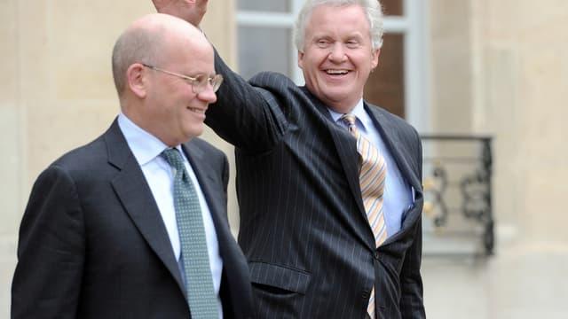 John Flannery et son prédécesseur Jeff Immelt