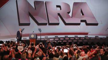 Donald Trump au meeting annuel de la NRA, le 28 avril 2018