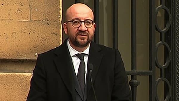 Le Premier ministre belge Charles Michel, lors de son discours au Palais de la Nation.