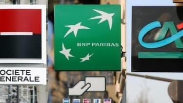 La Société Générale, BNP Paribas et le Crédit Agricole font toutes les trois parties de la liste