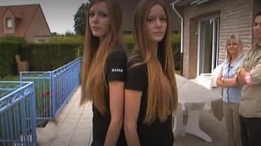 Maeva Coucke, Miss France 2018, et sa soeur jumelle Alizée, dans un reportage M6 de 2011.
