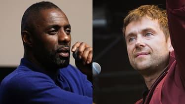 L'acteur Idris Elba et le chanteur Damon Albarn.