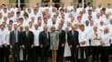 180 chefs étoilés ont été reçus à l'Elysée pour déjeuner mercredi 27 septembre.