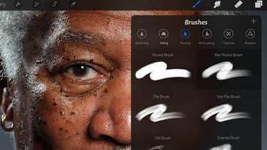 Ceci n'est pas une photo de Morgan Freeman mais une oeuvre réalisée sur iPad.