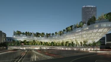 """Le projet """"Mille arbres"""", lauréat du concours """"Réinventer Paris"""" dévoilé mercredi 3 février 2016, est l'œuvre conjointe de deux cabinets d'architecture."""