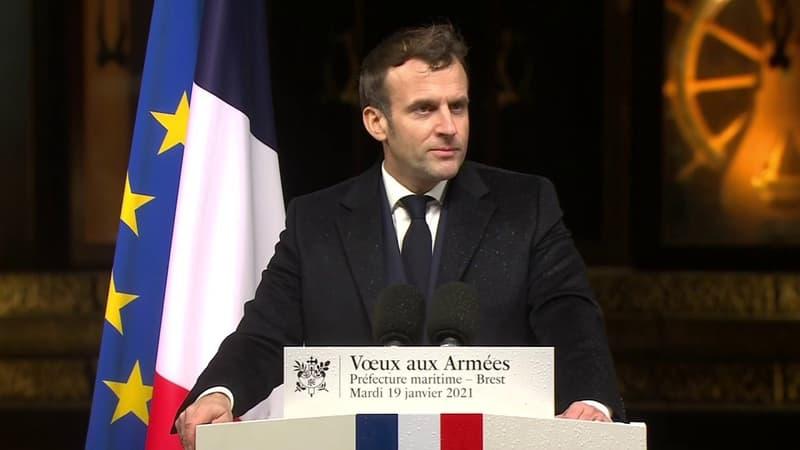 """Emmanuel Macron: """"Ne cédons à aucun court-termisme, à aucune impatience (...) et gardons ce sens du temps long"""""""