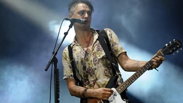 Pete Doherty, en concert aux Vieilles Charrues, en juillet 2016.