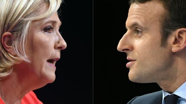 Emmanuel Macron enregistre 59% des intentions de vote, contre 41% pour Marine Le Pen, selon un sondage publié ce lundi.