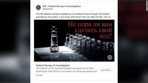 Sur Facebook, le FBI tente d'embaucher des espions russes