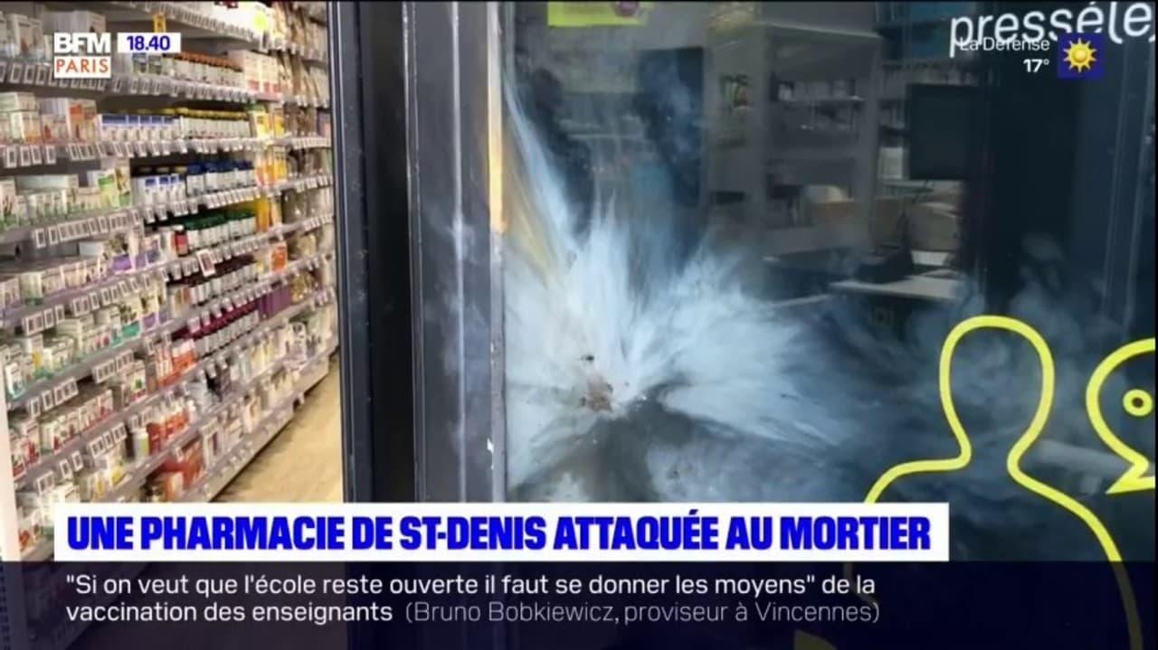 Seine-Saint-Denis: une pharmacie attaquée au mortier, l'auteur des faits interpellé