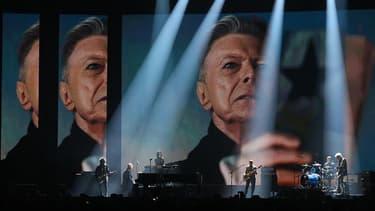 L'hommage à David Bowie, lors des derniers Brit Awards en février 2016.