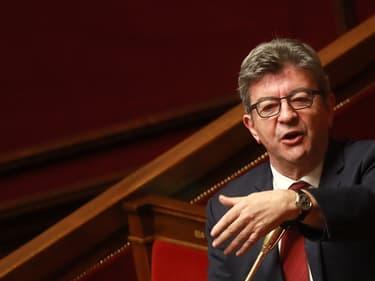 Jean-Luc Mélenchon, en mars 2020, à l'Assemblée nationale.