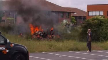 Un avion s'est écrasé un peu avant midi sur la zone d'activité de Wambrechies