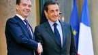 Le président russe Dmitri Medvedev, reçu lundi à Paris par son homologue français Nicolas Sarkozy. La France a affiché sa confiance en Medvedev en annonçant son intention de vendre à la marine russe quatre navires de type Mistral et non un seul comme envi