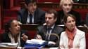 Christiane Taubira, Emmanuel Macron et Ségolène Royal sur les bancs de l'Assemblée, le 13 janvier 2016.