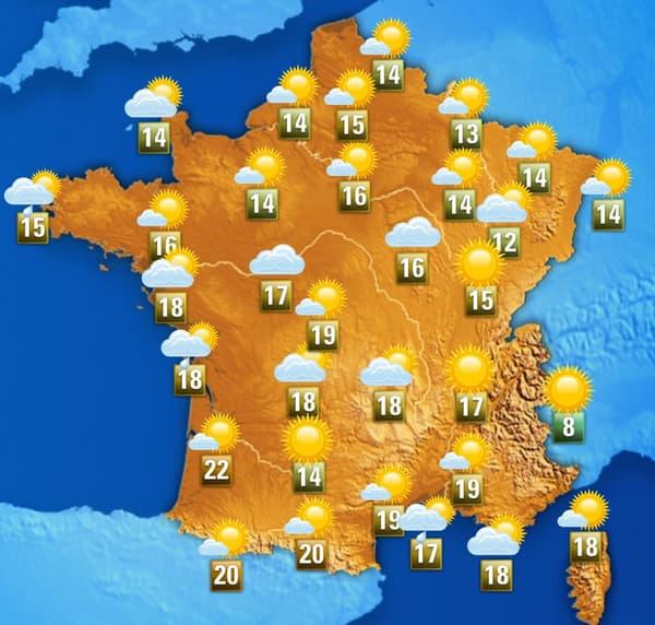 La météo de ce vendredi après-midi