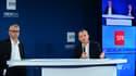 Michel Combes (PDG de SFR) et Alain Weill (PDG de NextRadioTV)