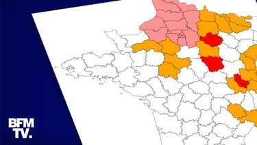 CARTE. Découvrez les 19 départements confinés et les 24 placés en vigilance renforcée