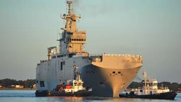 Le premier Mistral commandé à la France par la Russie, le Vladivostok.