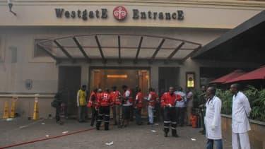 L'entrée du centre commercial Westgate, à Nairobi, dimanche.