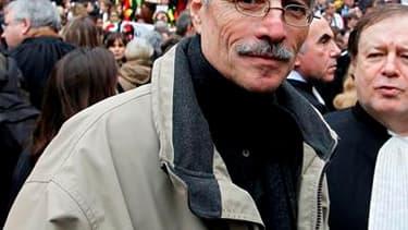 Renaud Van Ruymbeke, lors d'une manifestation de magistrats devant le palais de justice de Paris. La justice a relancé des poursuites disciplinaires relatives à l'affaire Clearstream contre le juge qui instruit l'enquête sur l'attentat de Karachi, dans la