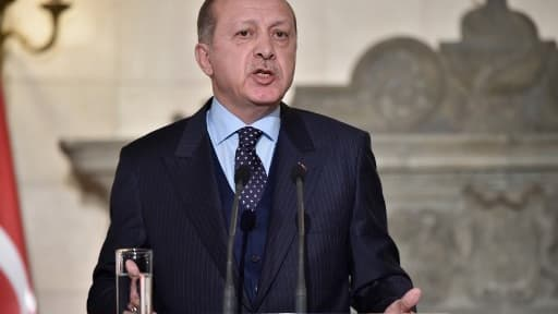 Le président de la Turquie Recep Tayyi Erdogan le 7 décembre 2017