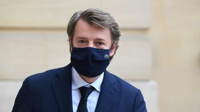 Le président de l'Association des maires de France François Baroin, le 30 septembre 2020 à Paris