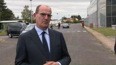 Jean Castex, lors de son premier déplacement en tant que Premier ministre samedi 4 juillet 2020