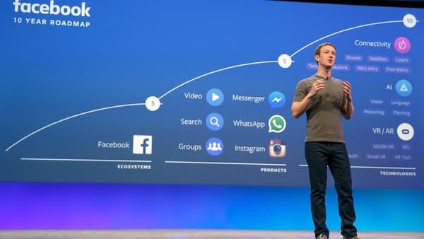 Mark Zuckerberg lors de la dernière conférence de Facebook