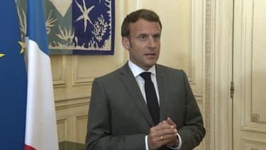 Emmanuel Macron le 23 avril 2020