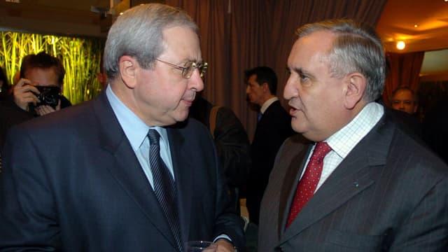 Jean-Paul Huchon (à gauche) et Jean-Pierre Raffarin (à droite)