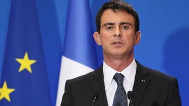 Manuel Valls en conférence de presse à Matignon le 23 décembre 2014.