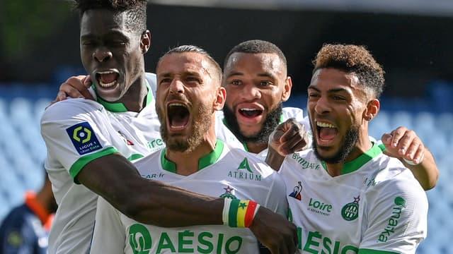 La joie des joueurs de Saint-Etienne