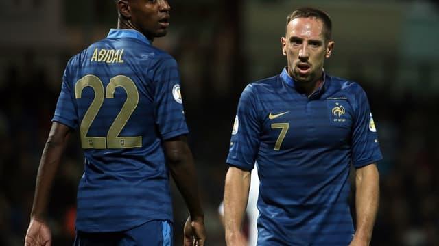 Eric Abidal et Franck Ribéry
