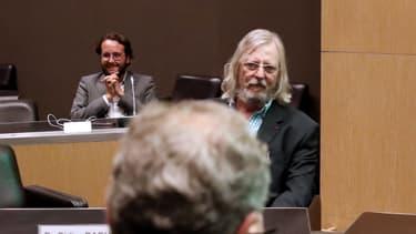 Didier Raoult et, en arrière-plan, Yanis Roussel, le 24 juin 2020